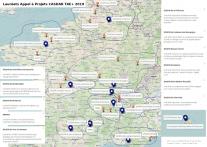 Carte lauréats AAP CASDAR TAE+ 2019 Lien vers: https://umap.openstreetmap.fr/fr/map/laureats-aap-casdar-tae-2019_363669#3/30.60/62.3